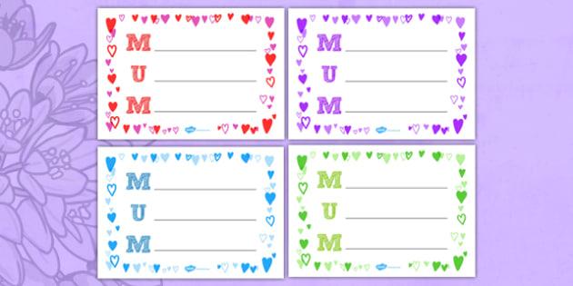 Landscape Mum Acrostic Poem (Hearts) - acrostic poems, acrostic poem, mum acrostic poems, mum acrostic poem sheets, mothers day acrostic poem sheets, writing frame, writing sheet, acrostic, poem, poetry, literacy, writing activity, activity