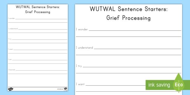 Grief Sentence Starters Activity - grief, trauma, grief activity sheet, grief sentence activity sheet