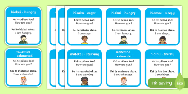 Ourselves Emotions Ngaa Kare a roto Flashcards