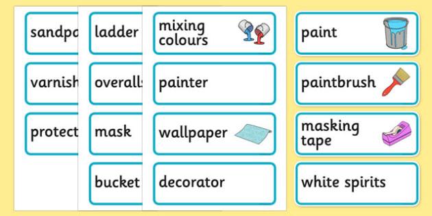 Paint Shop Role Play Labels - paint shop, role play, labels, paint, shop, role, play