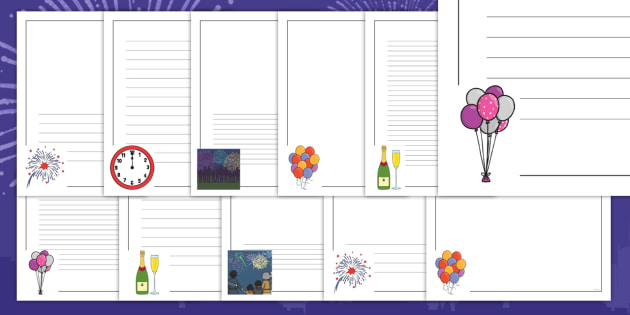 new year page border pack eyfs early years ks1 new years