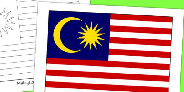 Malaysia Flag Display Poster - geography, countries, display