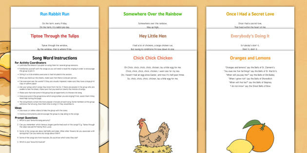 Pancake Day Song Word Instructions for Activity Coordinators - Elderly, Reminiscence, Care Homes, Pancake Day