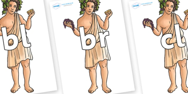 Initial Letter Blends on Dionysus - Initial Letters, initial letter, letter blend, letter blends, consonant, consonants, digraph, trigraph, literacy, alphabet, letters, foundation stage literacy