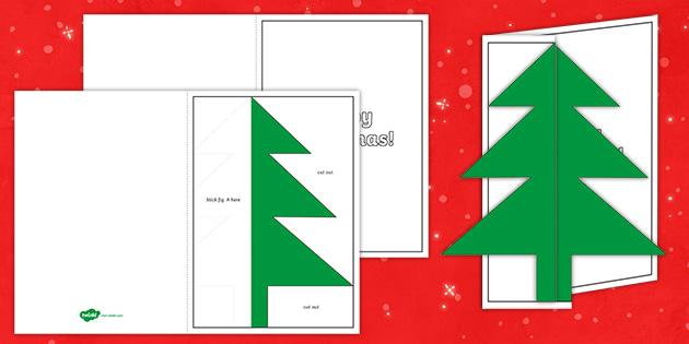 Free Printable Christmas Tree Christmas Card Template