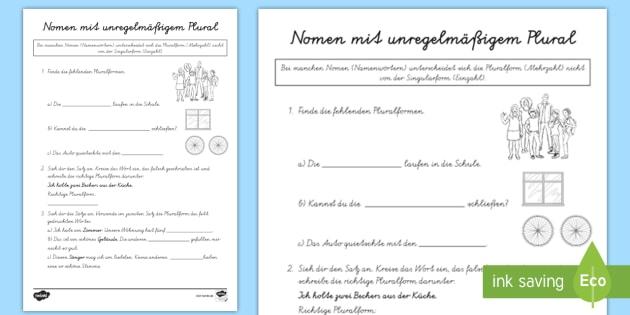 NEW * Nomen mit gleicher Plural- und Singularform