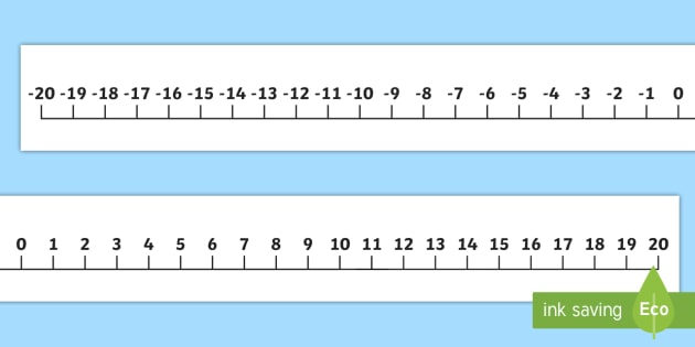 giant 20 to 20 display number line large numberline