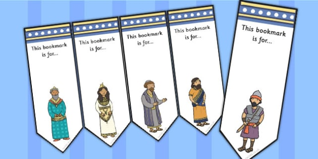 The Story of Esther Bible Story Editable Bookmarks - bookmark