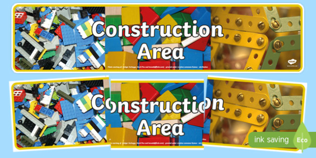 Construction Area Photo Display Banner Construction Area