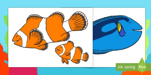 Under the Sea Adventure Extra Large Display Cut Outs - finding nemo, finding dory, under the sea adventure, display, cut outs