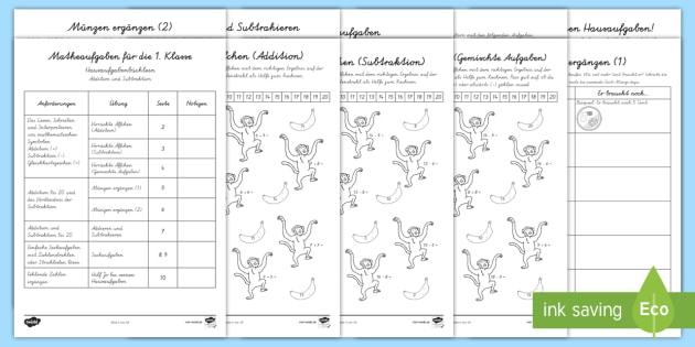 NEW * Hausaufgabenbüchlein: Addition, Subtraktion und