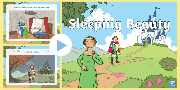 Sleeping Beauty Story PowerPoint - story books, traditional tales