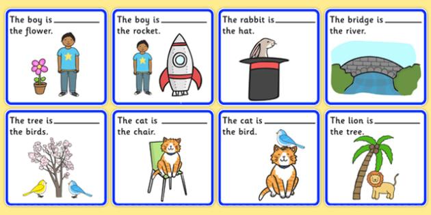 preposition picture description cards sen visual aid