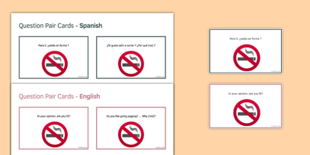 General Conversation Social Issues Question Pair Cards Spanish