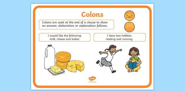 Colon Punctuation Poster - colon, punctuation, poster, display