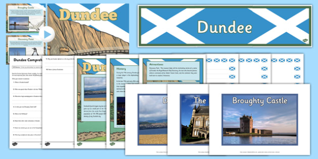 Dundee Resource Pack -  CfE, Social Studies, Towns and Cities, Scottish Cities, Dundee