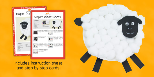 Paper Plate Sheep Craft Instructions - craft, paper plate, paper, plate, sheep, instructions