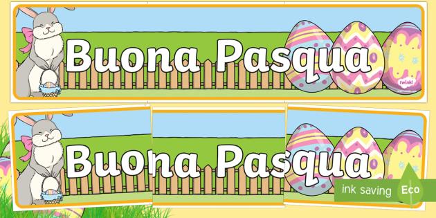 Buona Pasqua Striscione Buona Pasqua Pasquale Coniglio Uova Di