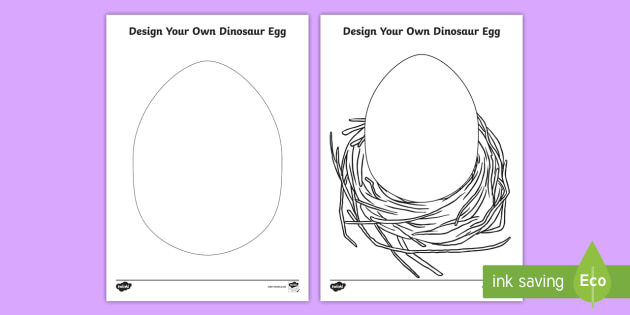 design a dinosaur egg activity sheet dino baby dinosaur