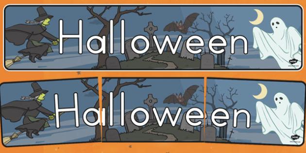 Halloween Display Banner - halloween, halloween banner, halloween display, display resources, autumn, halloween display header, halloween display title