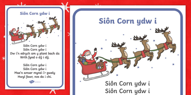 I'm Father Christmas Song Lyrics-Welsh