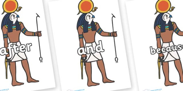 Connectives on Egyptian Figures - Connectives, VCOP, connective resources, connectives display words, connective displays