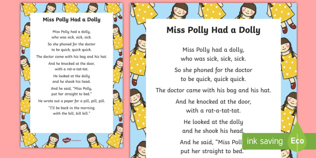 miss polly had a dolly rhyme free download
