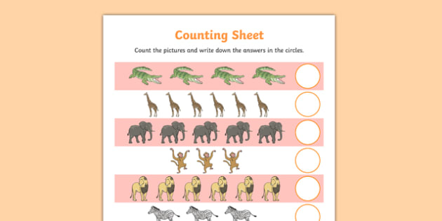 Crocodile Themed Counting Sheet - Selfish crocodile, crocodile, alligator, ks2, story book, animals, reptiles, ks2, ks1, eyfs,
