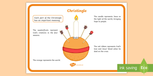 Christingle Display Poster - christingle, christianity, christmas, xmas, symbolism, decoration, poster, display