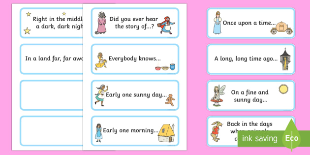 Traditional Story Opener Sentence Flashcards