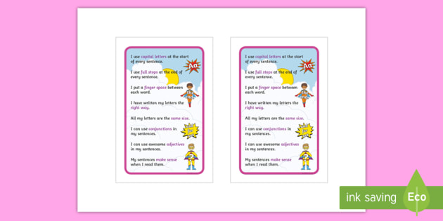 NEW * How To Make A Super Sentence Checklist IKEA Tolsby Frame