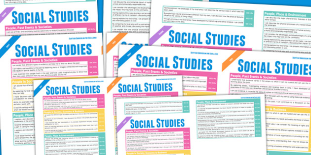 Scottish Curriculum For Excellence Social Studies Overview Poster