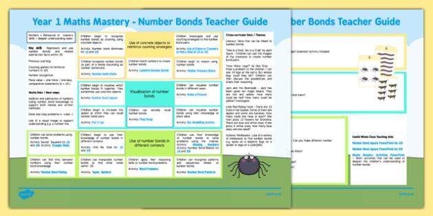 Year 1 Maths Mastery Number Bonds Teaching Ideas