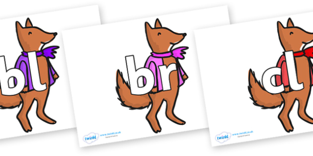 Initial Letter Blends on Small Fox 4 to Support Teaching on Fantastic Mr Fox - Initial Letters, initial letter, letter blend, letter blends, consonant, consonants, digraph, trigraph, literacy, alphabet, letters, foundation stage literacy