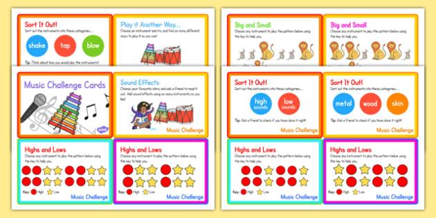 Music Challenge Cards - music, challenge, cards, challenge cards