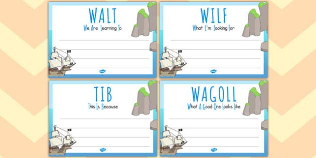 Pirate Themed 'WALT', 'WILF', 'TIB', 'WAGOLL' Posters - pirate