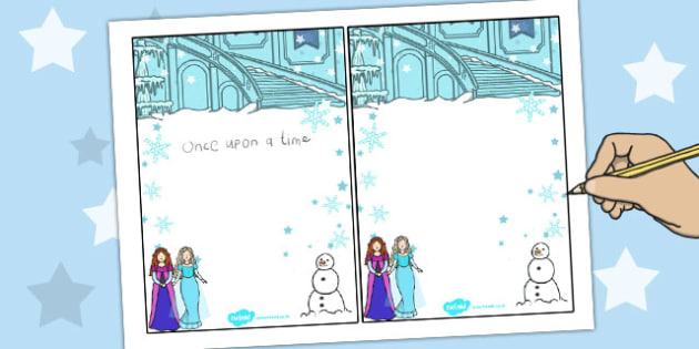 Winter Fairytale Editable Notes - editable, notes, frozen, tale, Elsa