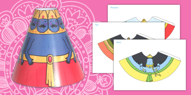 Diwali Cone Characters - topic, theme poster, display, characters