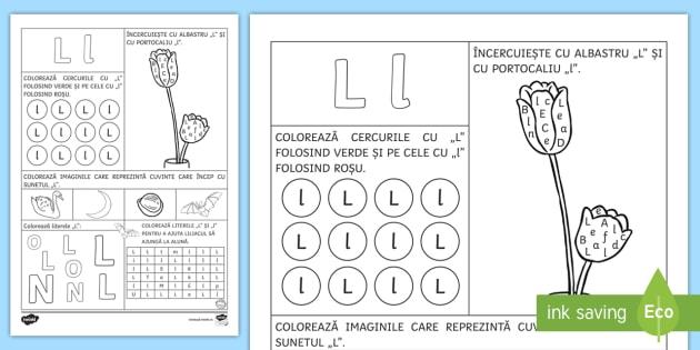 New Recunoașterea Literei L L Fișă De Lucru Clasa Pregătitoare