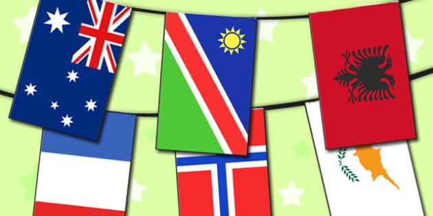 Flag Bunting - flags, bunting, display bunting, display flags