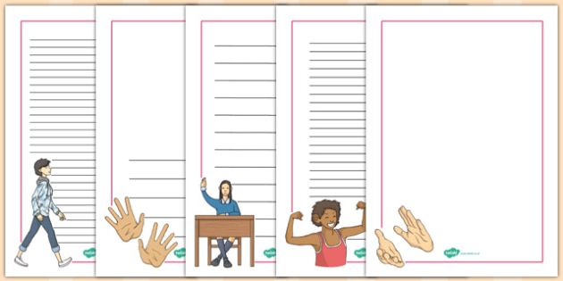 French Actions Page Borders - french, page, borders, actions