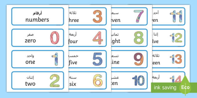 how to read arabic numbers in english