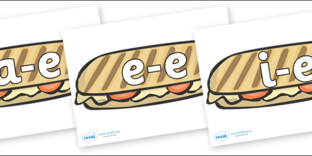 Modifying E Letters on Paninis - Modifying E, letters, modify, Phase 5, Phase five, alternative spellings for phonemes, DfES letters and Sounds