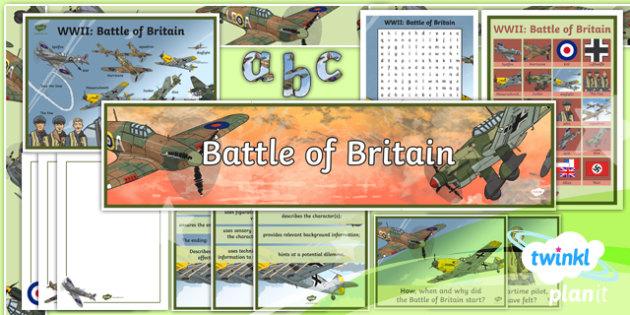 PlanIt Y5 World War II: Battle of Britain Additional Resources