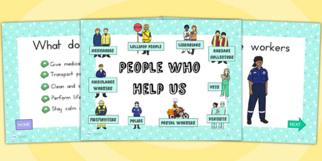 People Who Help Us Information PowerPoint - info powerpoint