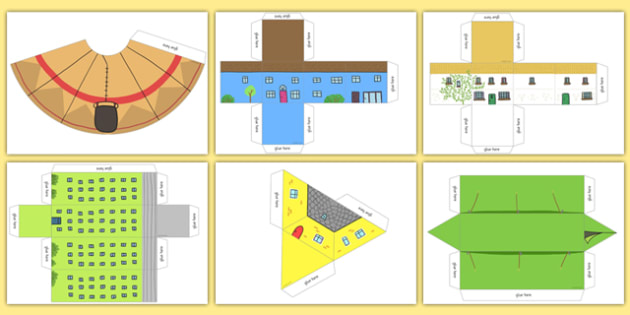 3D Shapes Houses and Homes - 3d, shapes, houses, homes, 3d shape