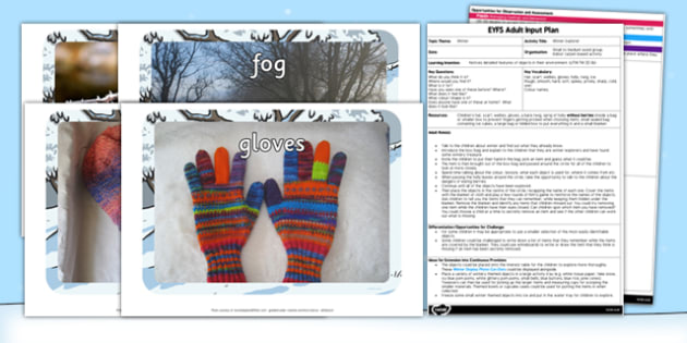 Winter Explorer EYFS Adult Input Plan - EYFS, planning, early years, UTW