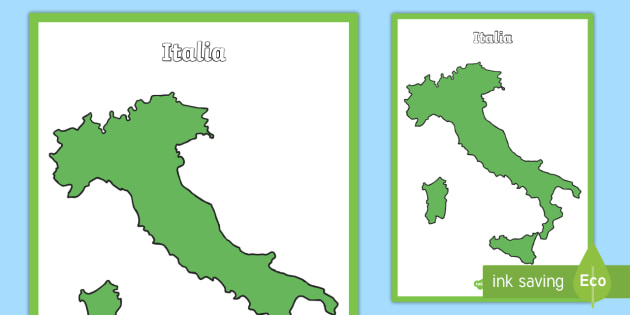 Cartina Vuota Dell Italia.Mappa Dell Italia Vuota Poster Teacher Made