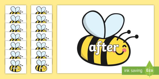 Connectives on Bees - Connectives, VCOP, connective resources, connectives display words, connective displays