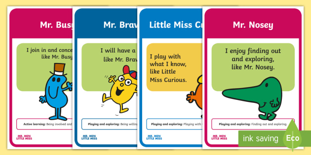 Mr Men And Little Miss Characteristics Of Effective Learning